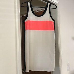 adorable Zara tennis dress hot pink stripe crepe